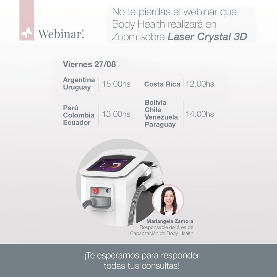 Información sobre el Webinar a realizar el día viernes 28 de agosto de 2021 por Body Health Group argentina